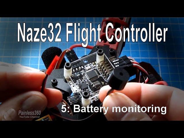 (5/8) Naze32 Flight Controller - Battery monitoring (vBat) and buzzers