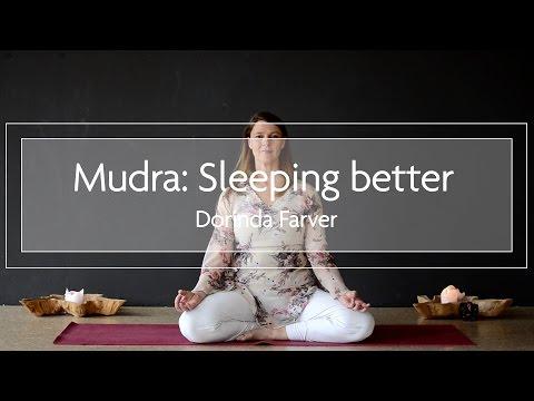 Mudra for a better sleep