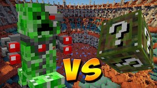 ALIEN CREEPER ROBO VS. LUCKY BLOCK CAMUFLAGEM (MINECRAFT LUCKY BLOCK CHALLENGE CAMO)