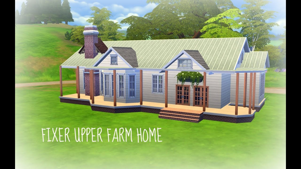 the sims 4 build fixer upper farm home pt 1 youtube. Black Bedroom Furniture Sets. Home Design Ideas