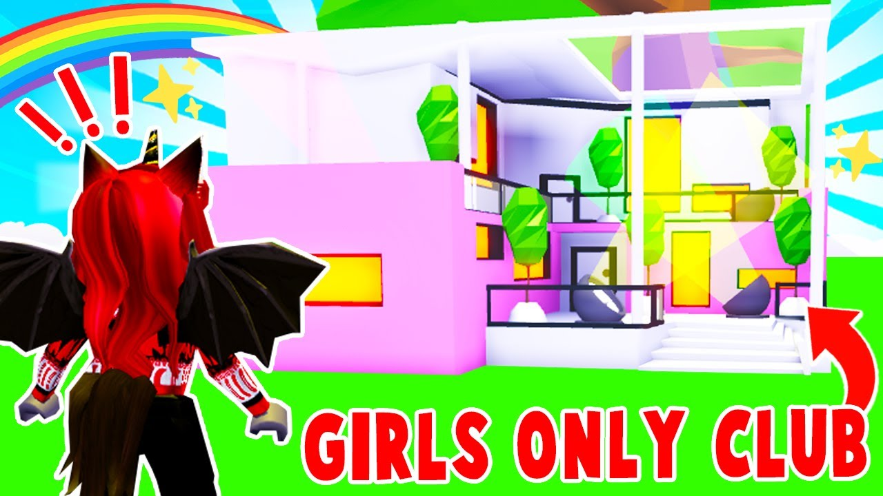 We Got Invited To A GIRLS ONLY Club And You Wont BELIEVE What We Found In Adopt Me! (Roblox)