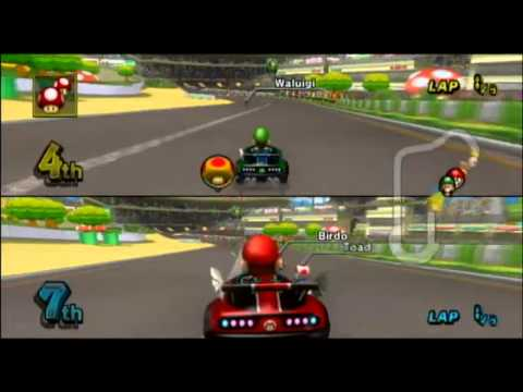 mario kart wii gameplay luigi circuit youtube. Black Bedroom Furniture Sets. Home Design Ideas