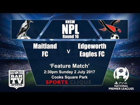 2017 Northern NSW NPL Round 16 Maitland FC v Edgeworth Eagles FC