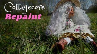 Cottagecore Inspired OOAK Custom Doll Repaint