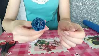 Как сделать цветок из гофрированной бумаги. Розы из гофрированной бумаги.