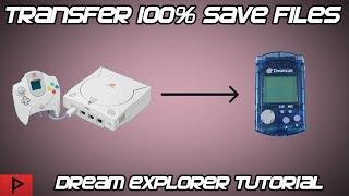 Easily Transfer Dreamcast Save Files to VMU - Dream Explorer Tutorial (2019)