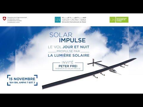 UIR - Conférence « Le vol jour et nuit propulsé par la lumière solaire »