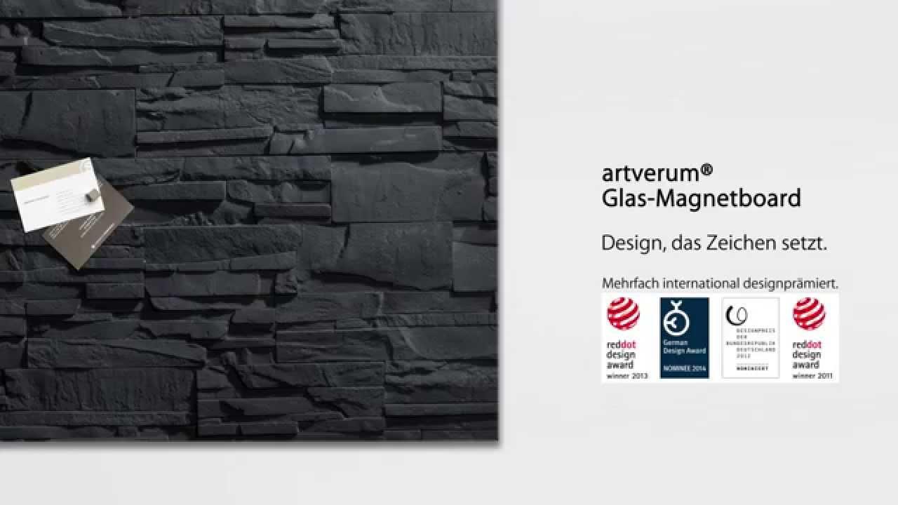 glas magnetboard artverum 48 x 48 cm design schiefer. Black Bedroom Furniture Sets. Home Design Ideas