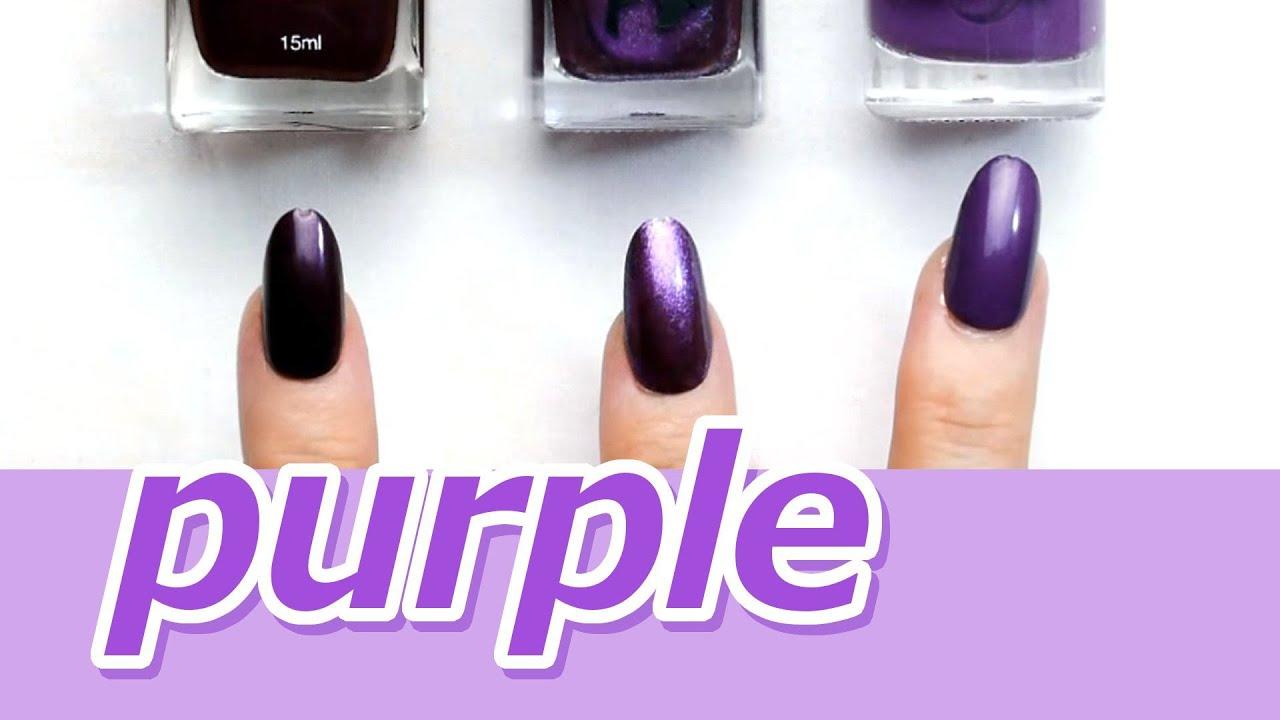 【比較】100均ダイソー・セリア・キャンドゥのパープルネイルポリッシュ☆紫☆ハロウィンに☆購入品紹介おすすめ