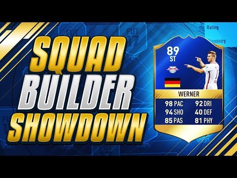 FIFA 17 SQUAD BUILDER SHOWDOWN!!! TEAM OF THE SEASON OVERPOWERED WERNER  - FIFA 17 ULTIMATE TEAM
