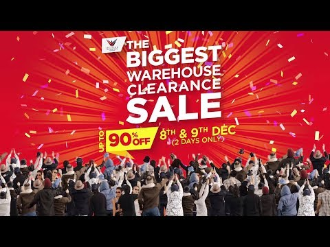 The Biggest Warehouse Clearance Sale! UPTO 90% OFF.