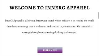 Multi-Page Website with E-Commerce for InnerG Apparel