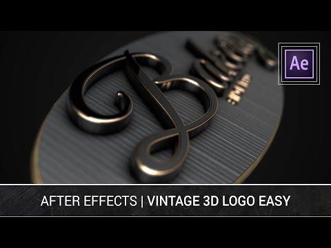After Effects - Vintage 3D Logo Easy Element 3D Tutorial