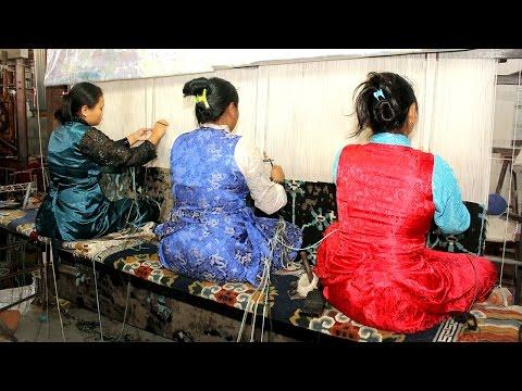 Tibetan Rugs Making Process in Nepal. Buy Tibetan Rugs Industries