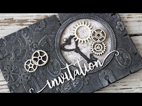Masculine Steampunk Invitation Card