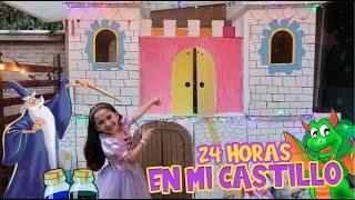 24 HORAS EN MI CASTILLO DE CARTON 🏰 🛡/NOS ATACÓ UN DRAGÓN 🗡🐉😱/POCIÓN MÁGICA DE INVISIBILIDAD 🧙🏻♂️✨