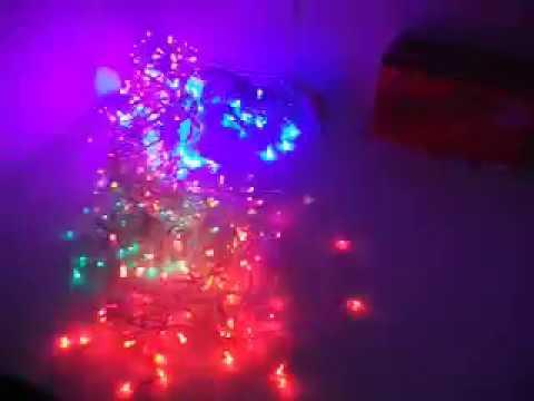 f2da01c0253 Serie Navideña De cascada con 400 luces led multicolor - YouTube