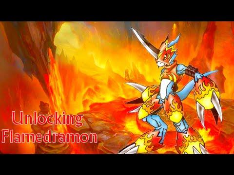 DMO - Unlocking Flamedramon (Armor Digi-Egg)