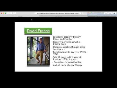 Webinar UK & Overseas Lease Option deals by David France 09 06 2015 20 05