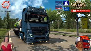 "Euro Truck Simulator 2 (1.38 Open Beta)   Mercedes Benz New Actros 2019 by Actros 5 Crew v1.2 by Harald-RS & Wolli2017 EVR Pro Engine Sound Road to Flensbourg Germany Germap v1.2 by Topolino Schwarzmuller Petrol Cistern Trailer Motorcycle Traffic Pack by Jazzycat FMOD ON and Open Windows Naturalux Graphics and Weather Test Gameplay ITA Europe Reskin v1.0 by Mirfi + DLC's & Mods https://forum.scssoft.com/viewtopic.php?f=35&t=287117  SCS Software News Iberian Peninsula Spain and Portugal Map DLC Planner...2020 https://www.youtube.com/watch?v=NtKeP0c8W5s Euro Truck Simulator 2 Iveco S-Way 2020 https://www.youtube.com/watch?v=980Xdbz-cms&t=56s  #TruckAtHome #covid19italia Euro Truck Simulator 2    Road to the Black Sea (DLC)    Beyond the Baltic Sea (DLC)   Vive la France (DLC)    Scandinavia (DLC)    Bella Italia (DLC)   Special Transport (DLC)   Cargo Bundle (DLC)   Vive la France (DLC)    Bella Italia (DLC)    Baltic Sea (DLC)   American Truck Simulator New Mexico (DLC) Oregon (DLC) Washington (DLC) Utah (DLC)     I love you my friends Sexy truck driver test and gameplay ITA  Support me please thanks Support me economically at the mail vanelli.isabella@gmail.com  Roadhunter Trailers Heavy Cargo  http://roadhunter-z3d.de.tl/ SCS Software Merchandise E-Shop https://eshop.scssoft.com/  Euro Truck Simulator 2 http://store.steampowered.com/app/227... SCS software blog  http://blog.scssoft.com/  Specifiche hardware del mio PC: Intel I5 6600k 3,5ghz Dissipatore Cooler Master RR-TX3E  32GB DDR4 Memoria Kingston hyperX Fury MSI GeForce GTX 1660 ARMOR OC 6GB GDDR5 Asus Maximus VIII Ranger Gaming Cooler master Gx750 SanDisk SSD PLUS 240GB  HDD WD Blue 3.5"" 64mb SATA III 1TB Corsair Mid Tower Atx Carbide Spec-03 Xbox 360 Controller Windows 10 pro 64bit"