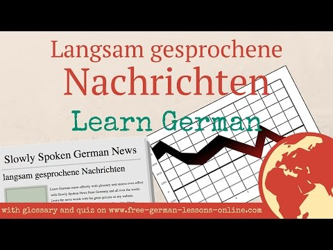 Slowly Spoken German News: Börsencrash - Stock Market Crash