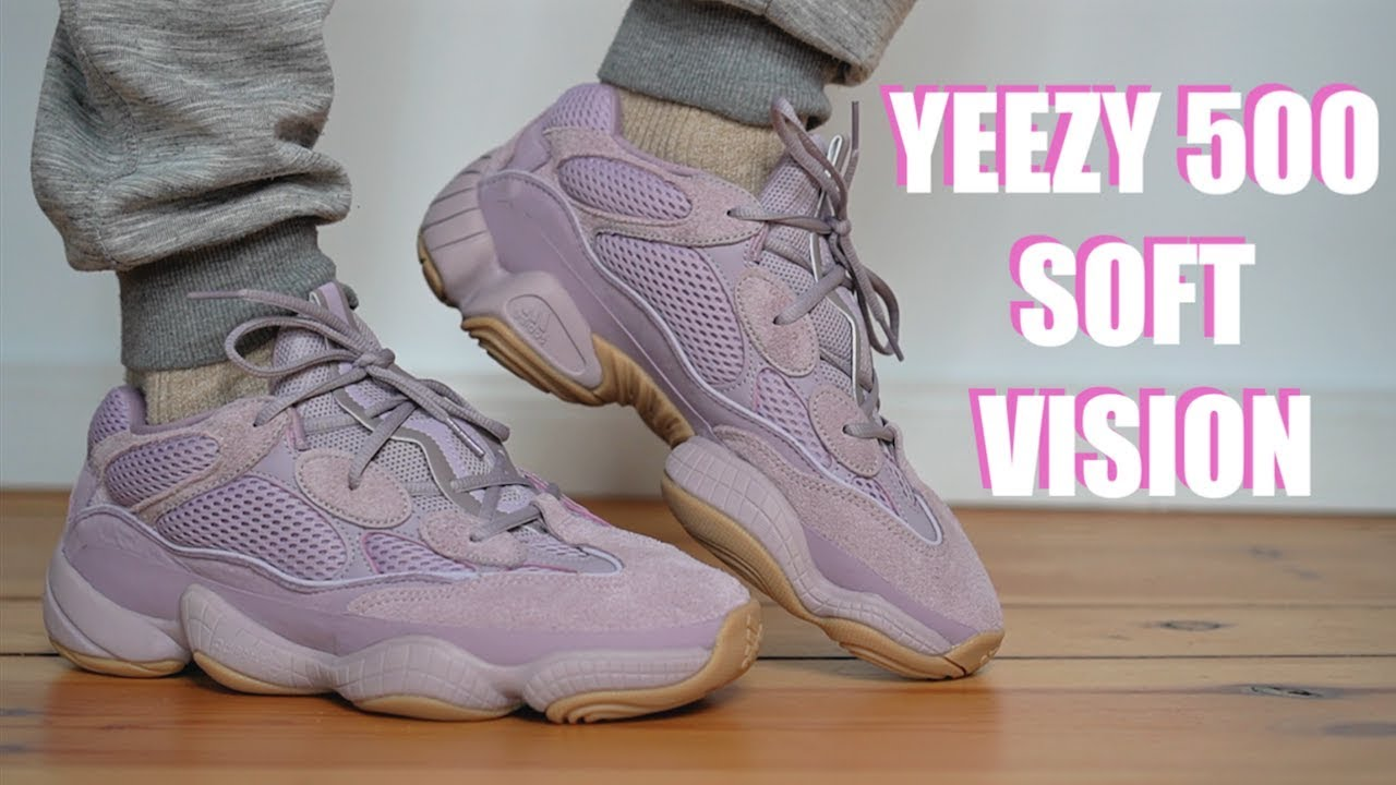 ADIDAS YEEZY 500 SOFT VISION REVIEW +