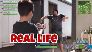 Fortnite Battle Royale Gameplay in REAL LIFE with Kid Temper Tantrum