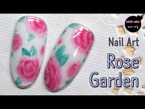 Rose garden nail art easy way to paint a rose flower for Easy way to paint a rose