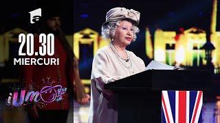 "iUmor 2021 | Regina Elisabeta a II-a a venit la iUmor să ia juriul ""la roast"""