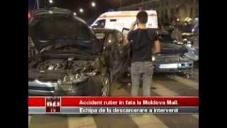 Accident rutier in fata la Moldova Mall  Echipajul de la descarcerare a intervenit   BZITV