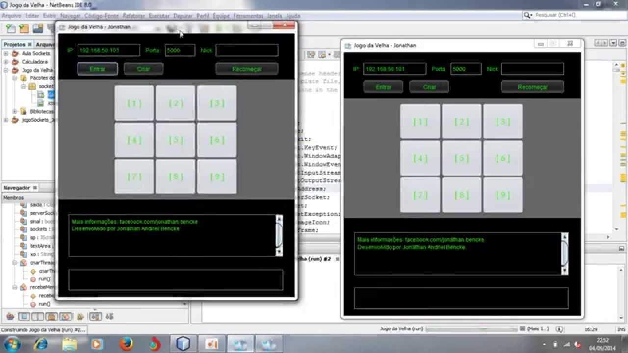 Jogo Da Velha Java Sockets Multiplayer Youtube