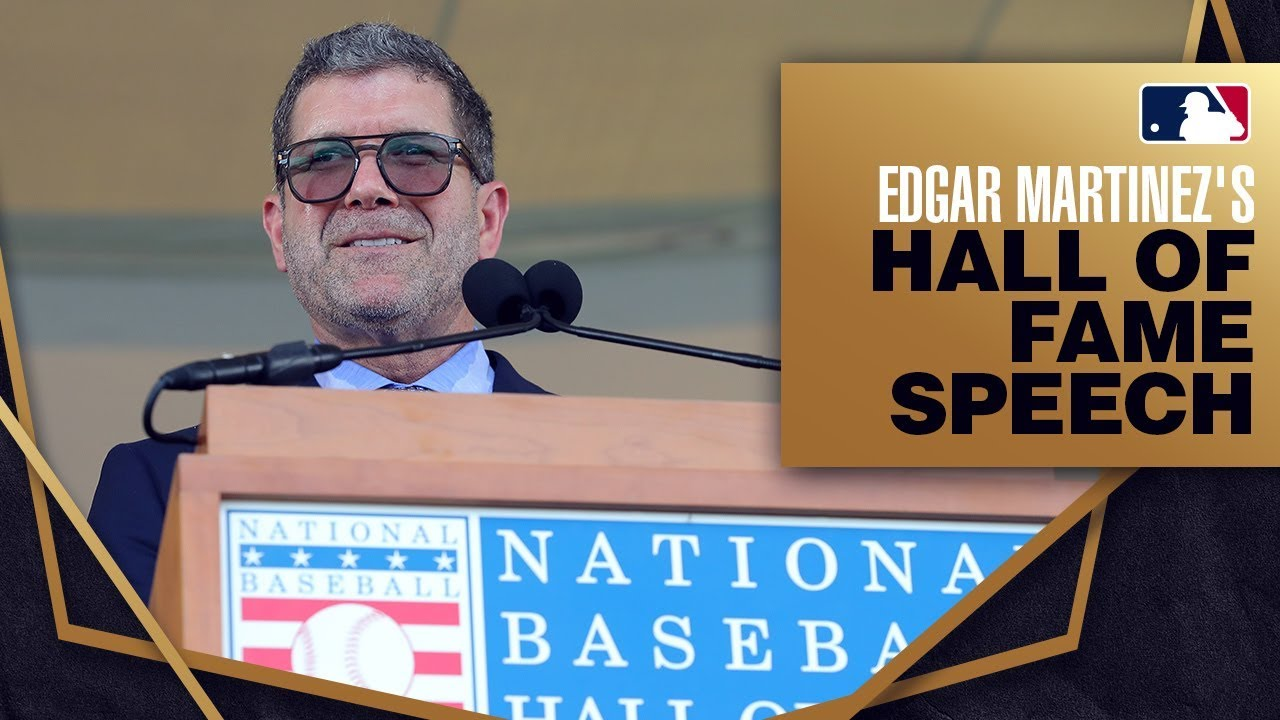 Edgar Martinez is inducted into the Hall of Fame