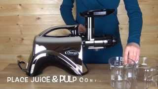 omega nutrition center juicer chrome 900hdc product overview