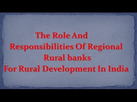 role of regional rural banks in development of rural area