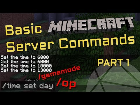 How To Use Commands On Your Minecraft Server (How To OP Yourself) [Part 1]