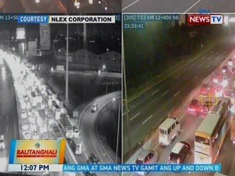 BT: Pagsasara ng bahagi ng NLEX dahil sa itinatayong overpass, nagdulot ng traffic