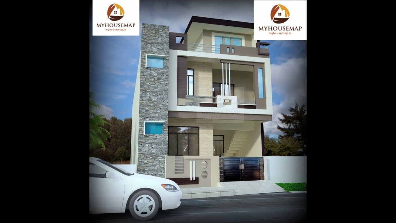 Design Front Of My House Part - 28: Affordable Houses Design Stone Cladding Front Stair Box Balcony Small House  Design Ideas