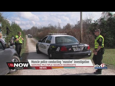 "WATCH: Police, FBI conducting ""massive"" investigation near Muncie"