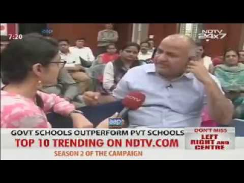Manish Sisodia with Sonal Mehrotra on #AAPEducationSuccess latest interview!