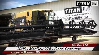 macdon 974 36 ft transport 7088 7010 8010 7120 8120 header draper sold on els