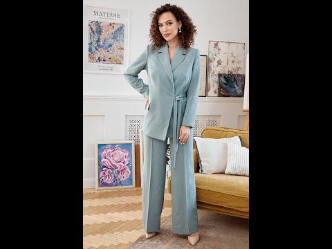 Летний женский брючный костюм Мода-Юрс 2669 swetlaya biryza