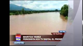 Inundaciones en el Valle de Sula, emitió Alerta Roja los municipios aledaños al río Ulúa