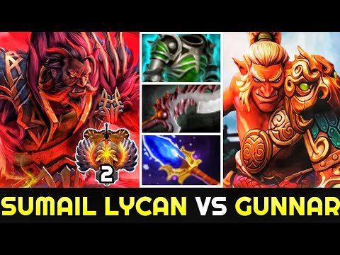 SUMAIL Lycan Vs GUNNAR Troll Warlord - Epic Battle Carry In Ranked Game 7.25 Dota 2