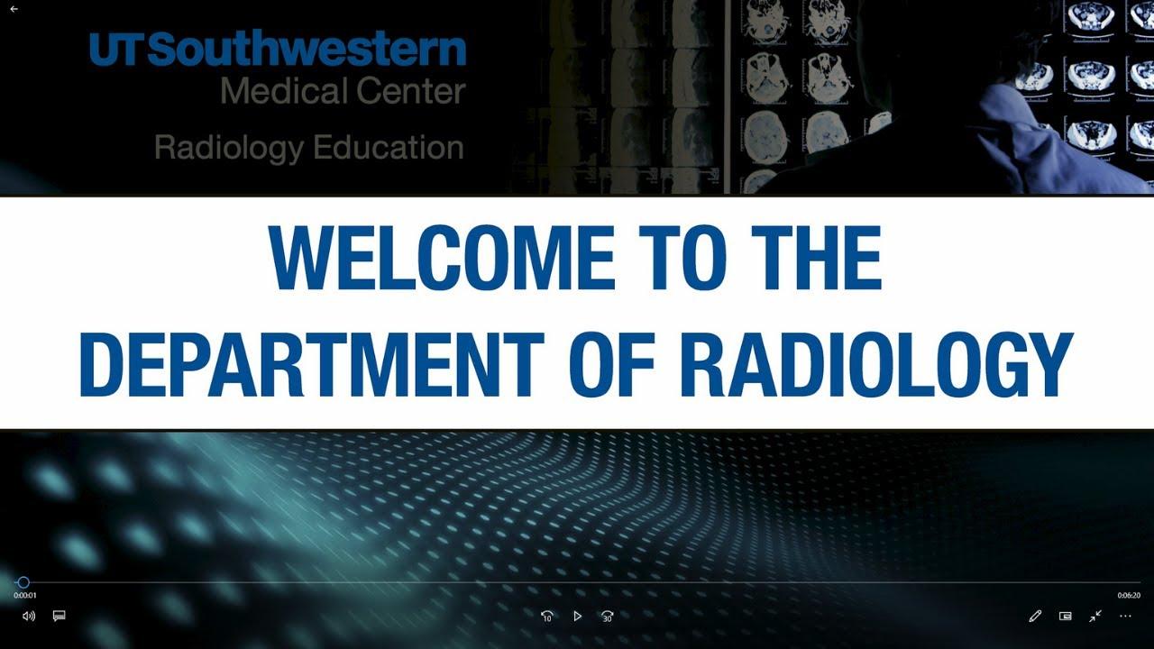 Radiology Residency Training at UT Southwestern #MedicalRadiology