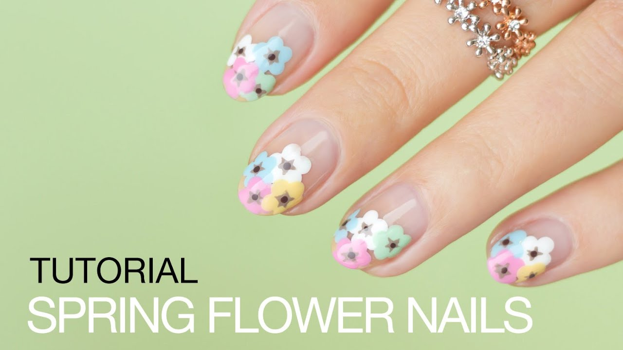 Spring Flower Nail Art Tutorial Sonailicious Youtube