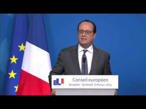 Watch Press briefing by François HOLLANDE, President of the French Republic