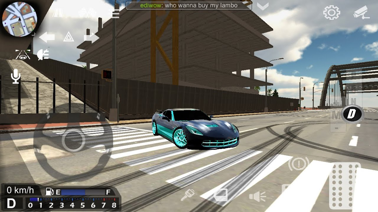Messing around with my corvette and testing top speeds! | car Parking Multiplayer gameplay