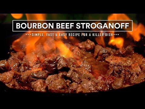 BOURBON Tenderloin Beef STROGANOFF made Fast & Easy Recipe