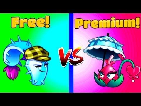 Blooming Heart vs Dusk Lobber Plants vs Zombies 2 Free vs Premium