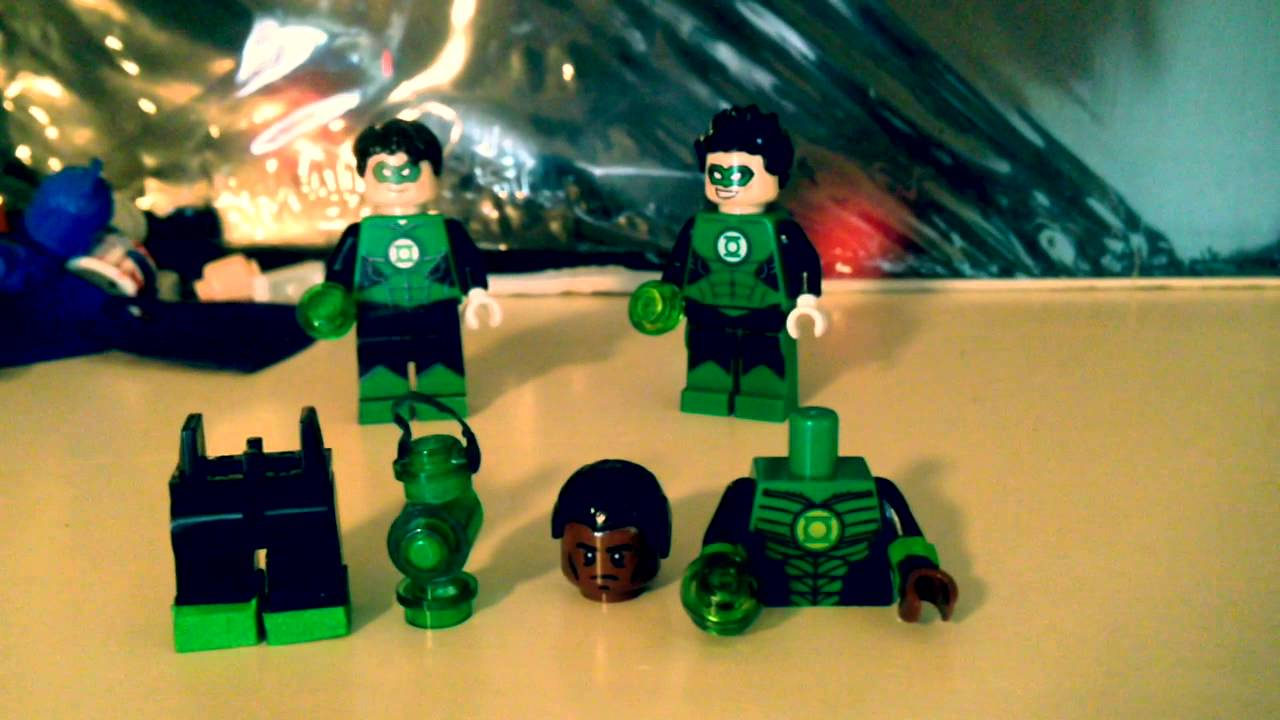 Lego custom John Stewart Green Lantern - YouTube